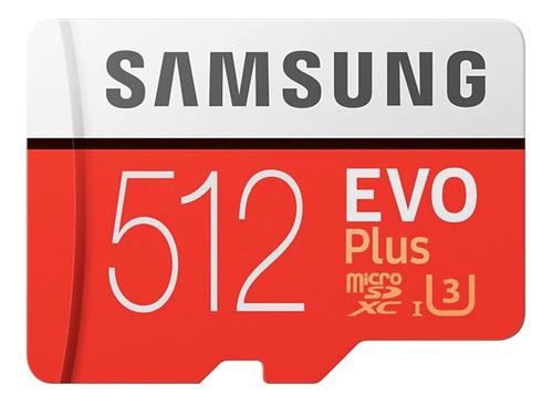Imagem 1 de 2 de Samsung Micro Sdxc Evo Plus C10 U3 4k 100mb/s 512gb Original