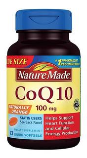 C O Q 10 100 Mg Nature Made 72 Softgels Frete Grátis