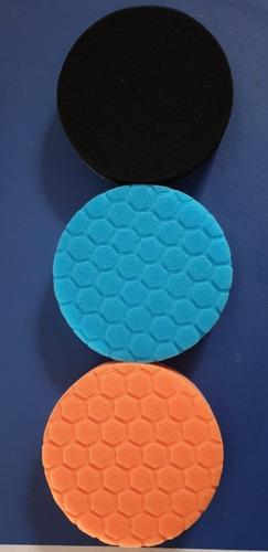 Imagen 1 de 2 de Kit 3 Pads De Pulido De 5 Pulgadas Corte Alto, Medio Y Fino
