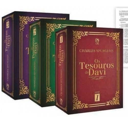 Os Tesouros De Davi Box Com Três Livros Os 150 Salmos...