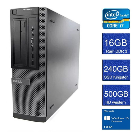 Computador Dell Optiplex C/ Intel Core I7-3770 E 16gb De Ram