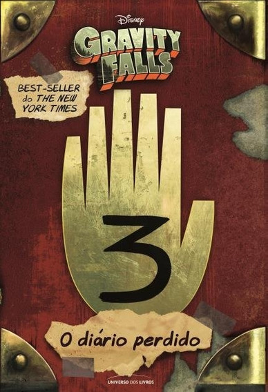 Livro O Diário Perdido De Gravity Falls - Volume 3 - Lacrado