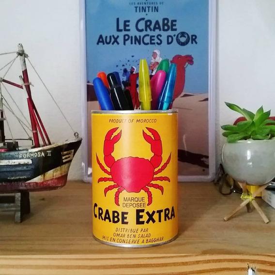 Lata Crabe Extra Aventuras De Tintin Decoração.