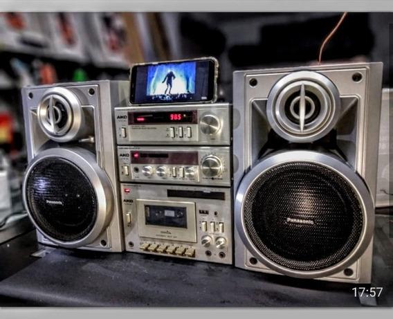 Micro System Aiko 3000 Turner Amplificador Deck + Bluetooth