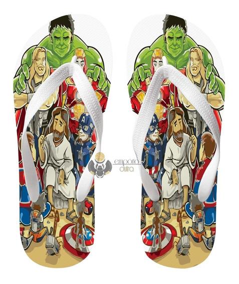 Chinelo Jesus Cristo Deus Herois Marvel Hulk