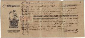 Brasil 1883 Promissória Com Selos Fiscal D. Pedro Ii