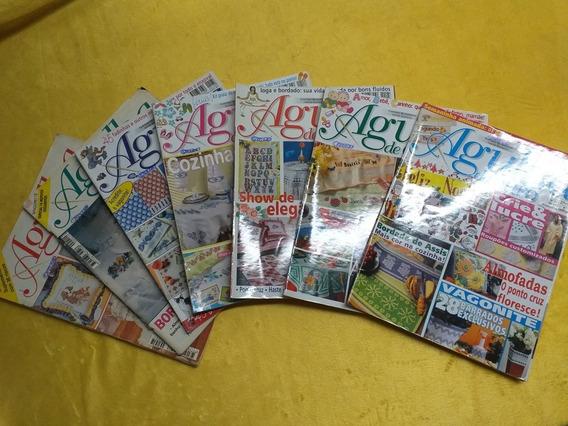 Lote Com 7 Revistas Agulha De Ouro Ponto Cruz Croche Monogra