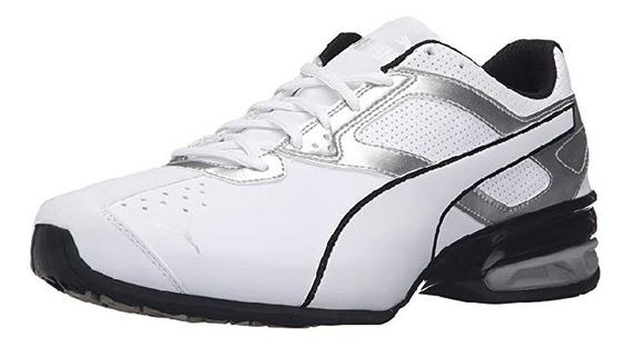 Tenis Puma Tazon Fm Memory Foam Blanco-plateado
