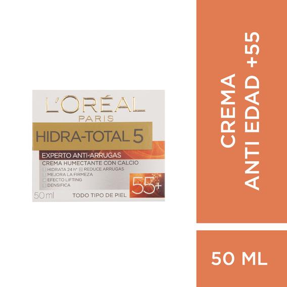 Crema Experto Antiarrugas +55 Loréal Paris Hidra Total 50 Ml