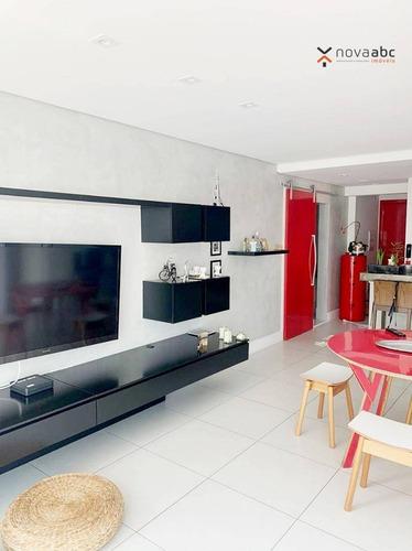 Imagem 1 de 30 de Apartamento Com 2 Dormitórios, 92 M² - Venda Por R$ 795.000,00 Ou Aluguel Por R$ 5.000,00/mês - Jardim - Santo André/sp - Ap3223
