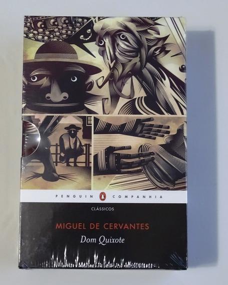 Caixa 2 Volumes Livro Dom Quixote Miguel De Cervantes Novo