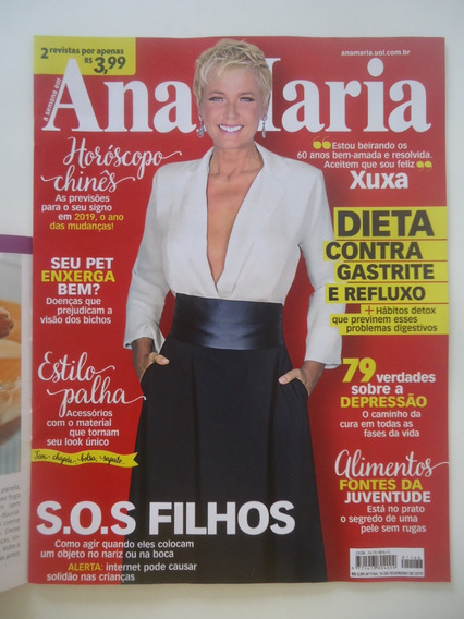Revista Ana Maria #1166 Xuxa - Com A Revista De Receitas