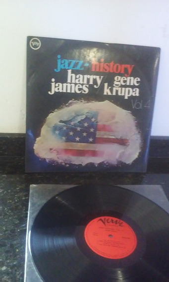 Lp Jazz History - Harry James - Gene Krupa - / Raro