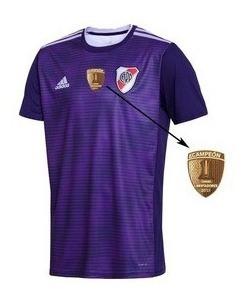 Camiseta De River Plate Suplente Oficial + Parche Campeón