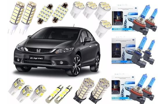 Kit Lampadas Led Super Branca Civic 2014 2015 2016 Farolete