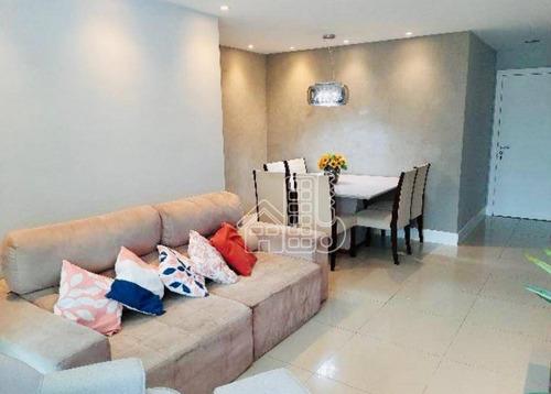Apartamento Com 2 Dormitórios À Venda, 100 M² Por R$ 730.000,00 - São Francisco - Niterói/rj - Ap2923