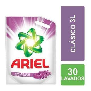 Jabón Líquido Para Ropa Ariel Con Suavizante Pouch 3 L