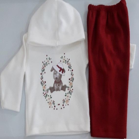 Conjunto Bebê Menina De Soft Com Capuz Baby Couture