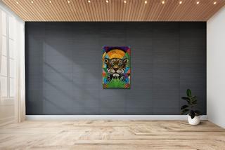 Jaguar Cuadros Canvas Decorativo. Cultural De Chiapas