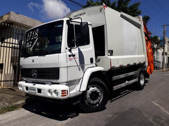 1718 2012 Com Compactador De Lixo 15 Mts Caminhão Revisado