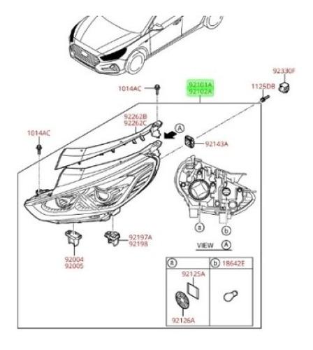 Optico Delantero Derecho Hyundai Sonata Lf 2015
