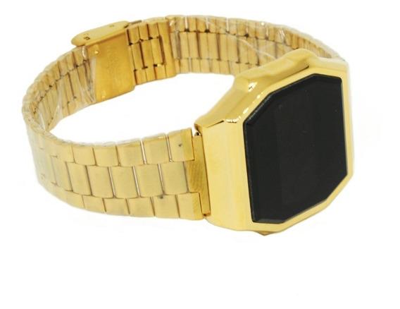 Reloj Metálico Digital Touch Color Dorado Para Hombre