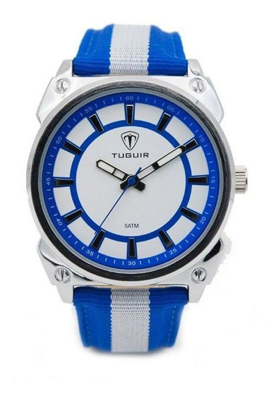Relógio Masculino Tuguir Esportivo Casual 5007 Azul Promoção