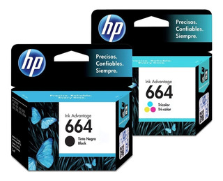 Cartuchos Hp 664 Negro + Color Combo Pack Original Oferta