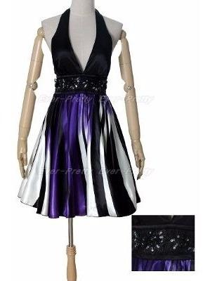 Vestido Corto De Saten10