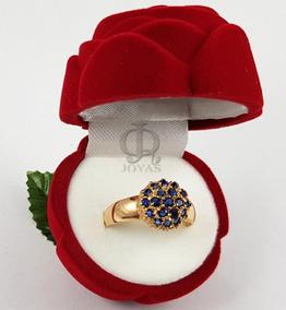 b84c4ada7cea Anillo Oro Con Piedra Azul Marino - Anillos en Mercado Libre Argentina