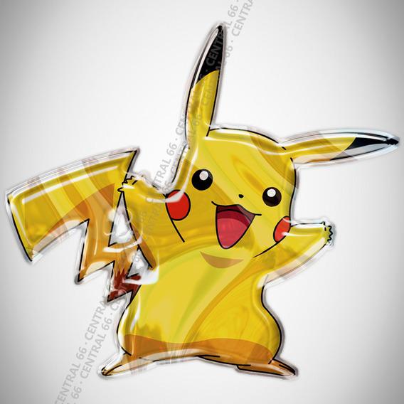 Adesivo Desenho Pokemon Pikachu M02 Resinado