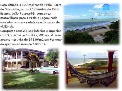 Casa À Venda, 345 M² Por R$ 600.000 - Barra De Gramame - Conde/pb - Ca0438