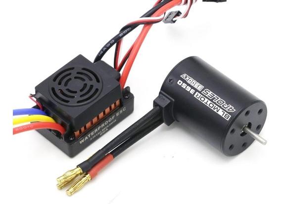 Combo Motor Brushless Inrunner 3900kv 1/10 Carro Rc Modelism