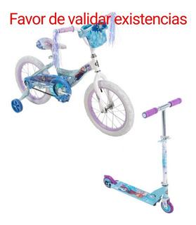 Bicicleta R16 Y Scooter, Disney Frozen