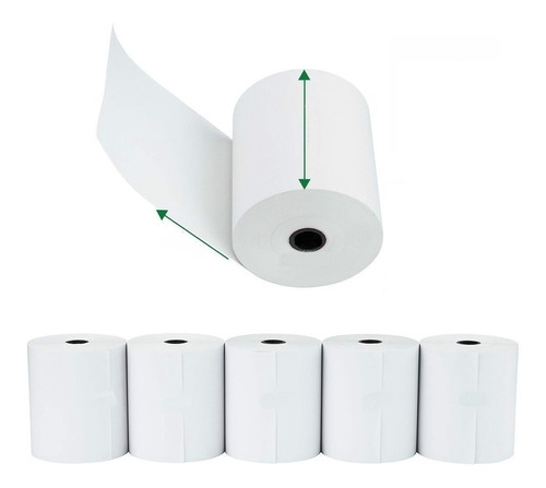 Rollo Papel Termico 80mm X 60mts X20 Unidades Impresora