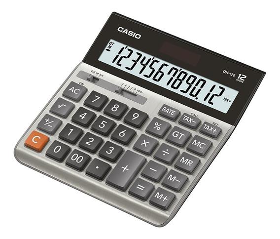 Calculadora Escritorio Casio Dh-120 Garantia Oficial 2 Años