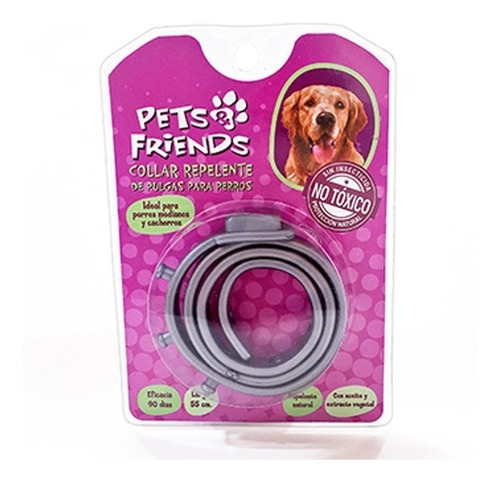 Collar Repelente De Pulgas Para Perros No Toxico
