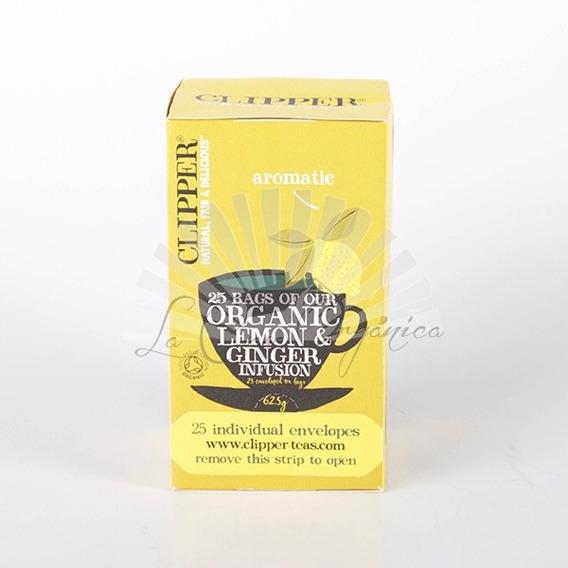 Infusión Hierbas Orgánicas Limón Jengibre Clipper 25 Sobres