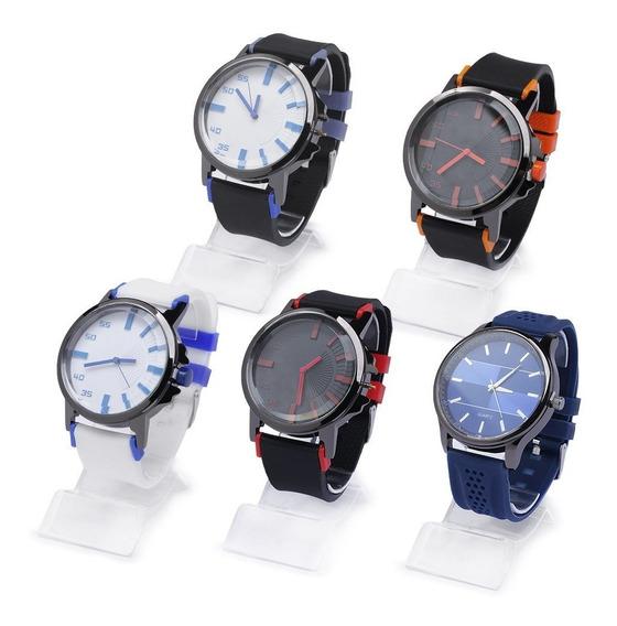 Kit 35 Relógios Masculino E Feminino Modelos Atacado + Caixa