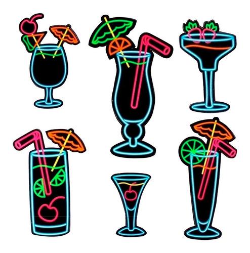 Painel Decorativo Drinks Neon