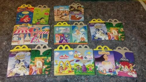 Lote De Cajitas Feliz Mac Donalds Aladdin/sirenita/mickey/pl