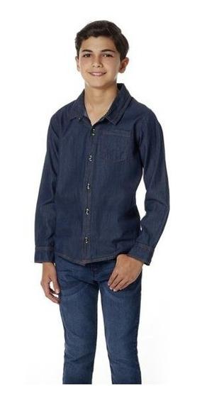 Camisa Niño De Mezclilla Con Botones 014059 Mundo Terra