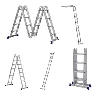 Escada De Alumínio Articulada 4x4 16 Degraus Mor