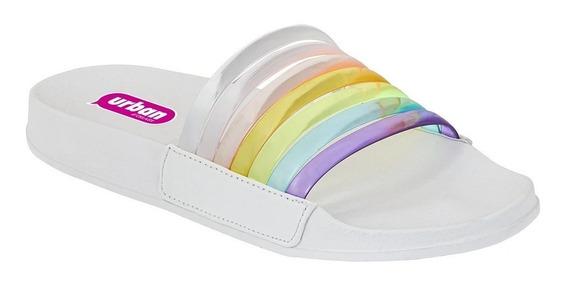 Calzado Sandalia Playa Dama Mujer Slip On Multicolor Comodas