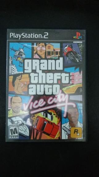 Gta Vice City 100% Original Raro+poster+mapa Completo-ps2