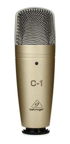 Micrófono Behringer C-1 condensador  cardioide dorado