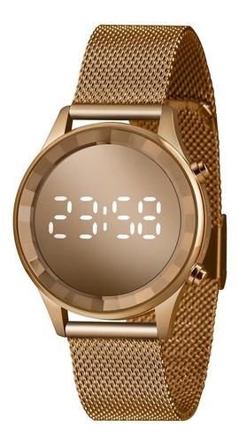 Relógio Led Feminino Rose Clássico Lince Original Ldr4648l