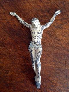Antiguo Cristo En Plomo