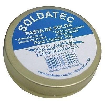 Kit 5 Pasta De Solda Soldatec 50g Implastec Atacado Revenda