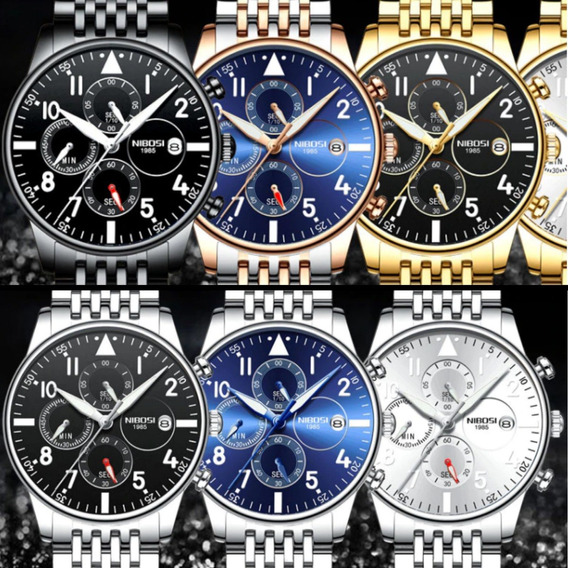 Relógio Nibosi Original Lançamento Original Lxbr 07 Modelos